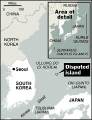 Japan - South Korea Conflict on Disputed Islands