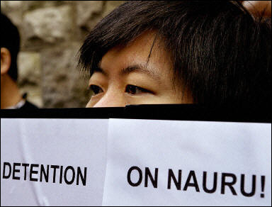 Asylum Seekers Protest Their Life Sentence in Nauru (AFP/Greg Wood)