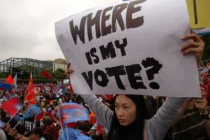 Protest at the Presidential Palace in Taipei, Taiwan (Thomas White/Reuters)
