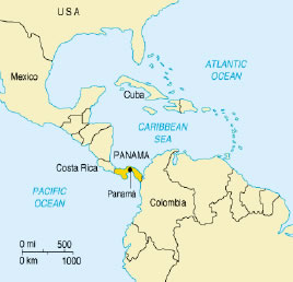 Social Security Privatization Protested In Panama Dismal World - World map panama