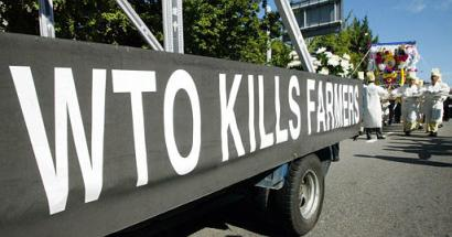 WTO Kills Farmers (AP/Lee Jin-man)