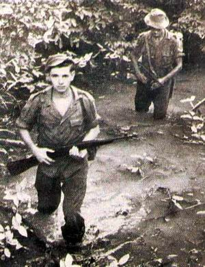 British jungle patrol during Japanese occupation.