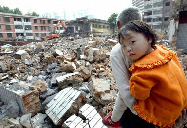 Old neighborhoods in Beijing, China demolished (AFP/Goh Chai Hin)