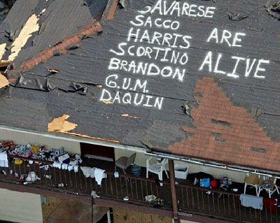 Hurricane Katrina - Messages on a Roof