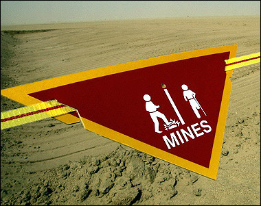 Landmines in Sudan (AFP/Paul J. Richards)